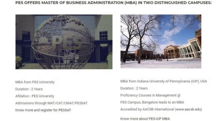 PES University, MBA in Bangalore