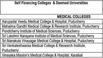 Deemed & Private Medical Colleges In Puducherry