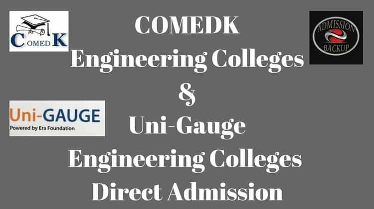 ComedK Colleges Direct Admission