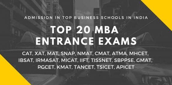 Top 20 MBA Entrance Exams