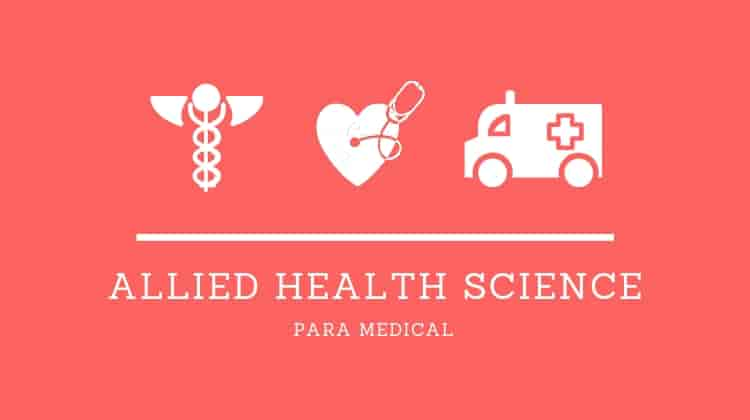 Paramedical & Allied Health Science courses after class 12th science